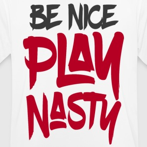Be Nice Lecture Nasty - T-shirt respirant Homme