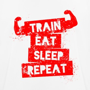 Train eat sleep repeat! - Männer T-Shirt atmungsaktiv