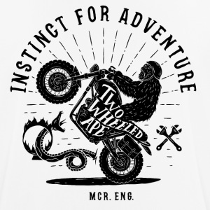 Two Wheeled Ape Wheelie Biker T-shirt - mannen T-shirt ademend