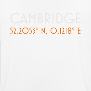 Cambridge England minimalist coordinates - Men's Breathable T-Shirt
