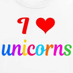 i Love Unicornios - Camiseta hombre transpirable