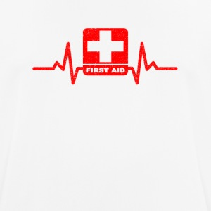 My heart beats for first aid ... - Men's Breathable T-Shirt