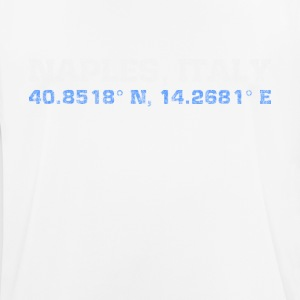 Naples Italy coordinates - Men's Breathable T-Shirt