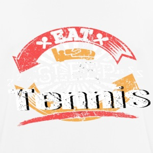 Eat Sleep Tennis - Andningsaktiv T-shirt herr