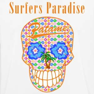 Patame Surfers Paradise Skull Oranje - mannen T-shirt ademend