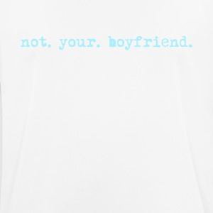 not your boyfriend, funny vintage typewriter - Men's Breathable T-Shirt