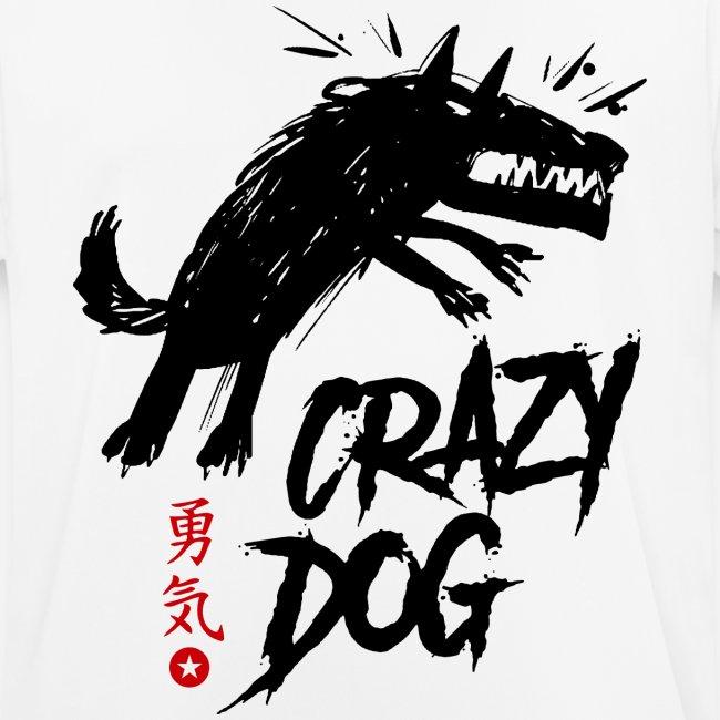 verrückter verrückter Hund