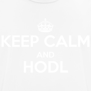 Keep Calm and Hodl - Pustende T-skjorte for menn