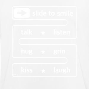 slide to smile... - Männer T-Shirt atmungsaktiv