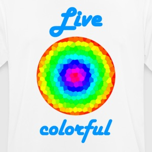 Life Colorful - Männer T-Shirt atmungsaktiv