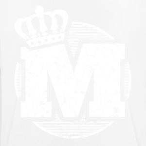 Stylish letter M with crown - Men's Breathable T-Shirt