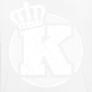 Stylish letter K with crown - Men's Breathable T-Shirt