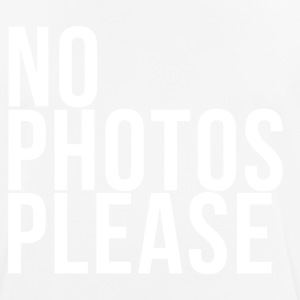 No Photos Please - Camiseta hombre transpirable