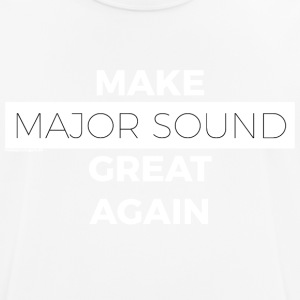 Design Major Sound vit - Andningsaktiv T-shirt herr