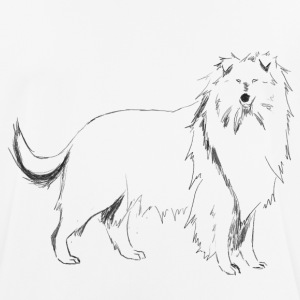 Long-haired Collie - Men's Breathable T-Shirt