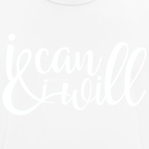 I can and I will White - Männer T-Shirt atmungsaktiv