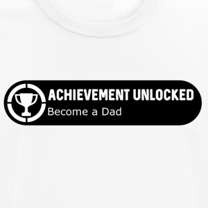 Achievement Unlocked: Become a Dad (w) - Männer T-Shirt atmungsaktiv