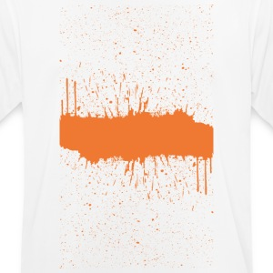 Orange brush Skizze - Männer T-Shirt atmungsaktiv