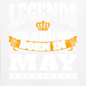 Legends are born in may May birthday shirt - Men's Breathable T-Shirt