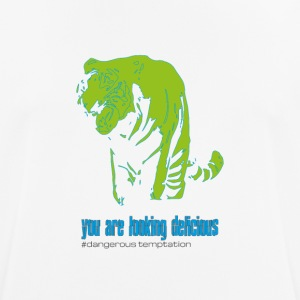 "Tiger male ""you are looking delicious"" - Men's Breathable T-Shirt"