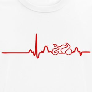 EKG HEART LINE BIKE red - Andningsaktiv T-shirt herr