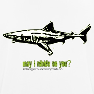 "Shark ""may i nibble on you?"" - Men's Breathable T-Shirt"