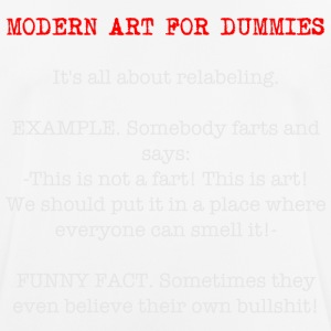 modern art for dummies, funny t shirt - Men's Breathable T-Shirt