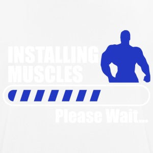 Installing muscles body building gym fitness - Men's Breathable T-Shirt