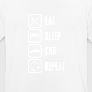 EET SLAAP CAR REPEAT - mannen T-shirt ademend