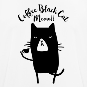 Coffee Black Cat Meow - Men's Breathable T-Shirt