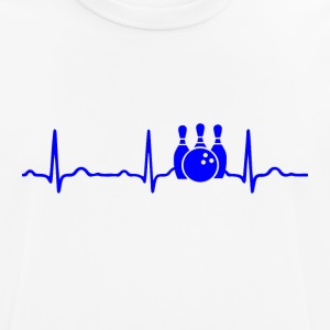 ECG HEARTBEAT BOWLING blue - Men's Breathable T-Shirt