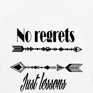No regrets just lessons - Men's Breathable T-Shirt