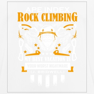 ApeIndex Rock Climbing Orange - Pustende T-skjorte for menn