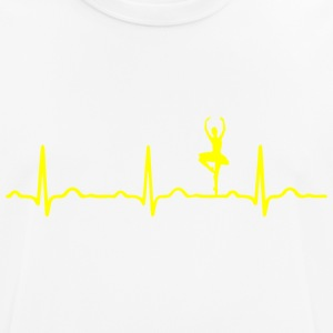 ECG HEARTBEAT BALLERINA yellow - Men's Breathable T-Shirt
