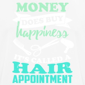 Hairdresser makes happy ... funny sayings - Men's Breathable T-Shirt