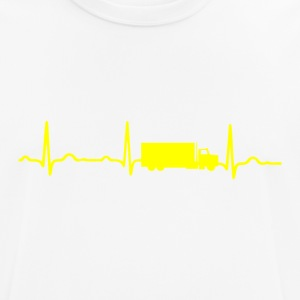 ECG HEARTBEAT TRUCK yellow - Men's Breathable T-Shirt