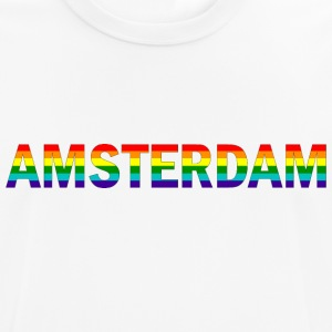 Amsterdam in rainbow colors - Men's Breathable T-Shirt
