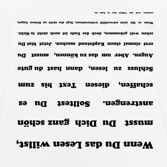 Spruch Sehtest Für Die Augen Männer T Shirt Atmungsaktiv