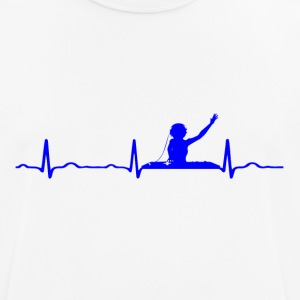 ECG HEART LINE DJ blue - Men's Breathable T-Shirt