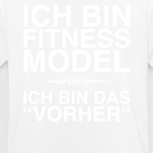 Fitness Model - I am the before (white) - Men's Breathable T-Shirt