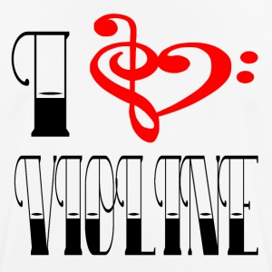 I LOVE VIOLINE - Men's Breathable T-Shirt