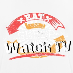Eat Sleep TV - Men's Breathable T-Shirt