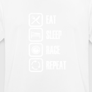Eat Sleep Race herhalen - mannen T-shirt ademend
