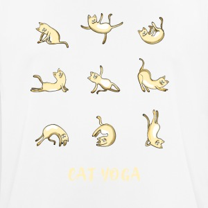 cat yoga figures cute Humor namaste sports medi - Men's Breathable T-Shirt