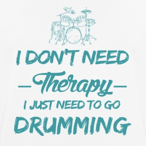 Drums play as a therapy - Men's Breathable T-Shirt