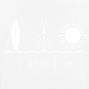 Simple Life Ukulele - mannen T-shirt ademend