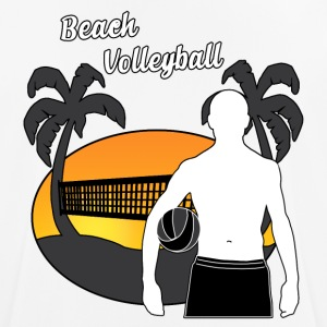 beach volley - mannen T-shirt ademend