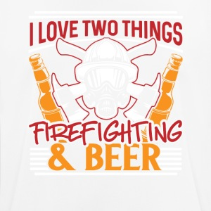 I love two things - Firefighting & Beer - Men's Breathable T-Shirt
