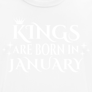 Kings are born in January - Männer T-Shirt atmungsaktiv