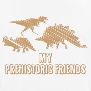 My Prehistoric Friends - Dinosaurs - Men's Breathable T-Shirt